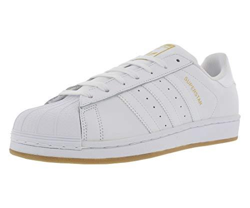 adidas Superstar, Zapatillas para Correr para Hombre, Blanco/Dorado metálico/Gum, 13 M US
