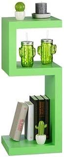 Relaxdays Estantería Suelo Horizontal o Vertical, Madera MDF, Verde, 30x74.5x30 cm