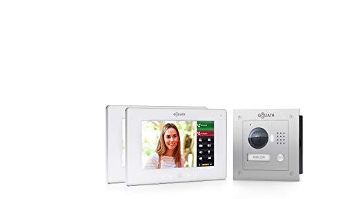 Goliath IP Video Türsprechanlage, Unterputz, HD Türstation, Edelstahl, App mit Türöffner Funktion, 7 Zoll Full Touchscreen, WiFi, 1 Familienhaus - AV-VTC652