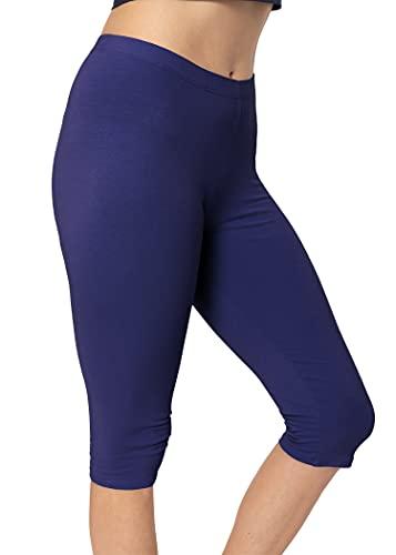 Stretch is Comfort Women's Teamwear Knee Length Leggings Navy X-Large