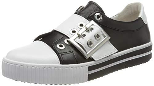 Gabor Shoes Damen Jollys' Sneaker, Schwarz (Schwarz/Weiss 27), 44 EU