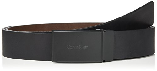 Calvin Klein Casual Rev. Adj. Plaque Belt Cintura, Multicolore (Black/Brown), X-Large (Taglia Produttore: 105) Uomo