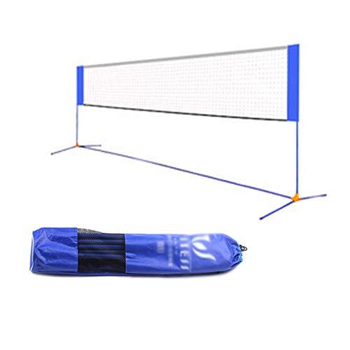 ZXCV Tragbar Badminton Netz, Multifunktions-Badminton-Netz Easy Badmintonnetz mit Einer Stützstange für Innen- oder Außenplätze, Strand, Zufahrt (4.1m/5.1m/6.1m) 4.1m
