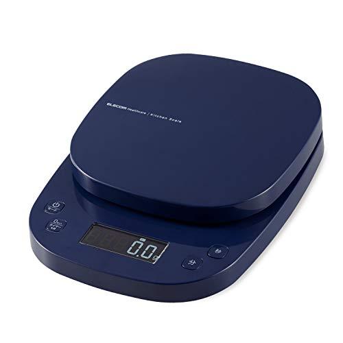 エレコム キッチンスケール タイマー付 最大2kg 最小0.1g表示 ネイビー HCS-KS03NV