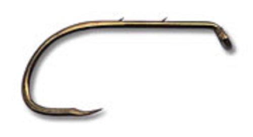 Mustad Classic Barbless Special Long Shank Beak Baitholder Hook with 2 Baitholder Barbs (Pack of 10), Bronze, Size 6
