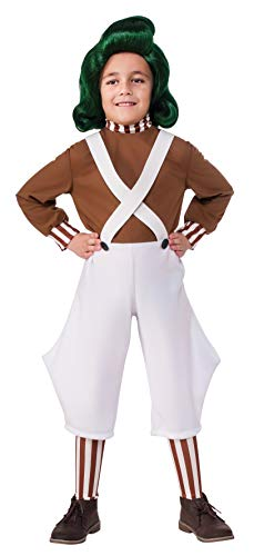 Rubie's Costume Kids Willy Wonka & The Chocolate Factory Oompa Loompa Value Costume, Small