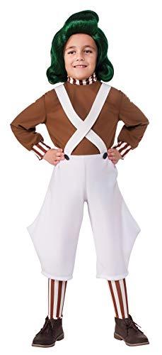 Disfraz oficial de Oompa Loompa de la película Willy Wonka y la fábrica de chocolate, para niños, de Rubie