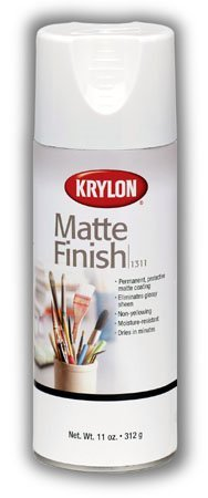 Krylon Matte Finish 11 Oz. Spray Eliminates Glossy Sheen and Provides Permanent Surface Protection (Pkg/2)