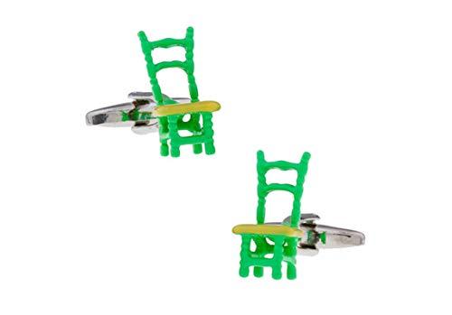 AmDxD Gemelos de Cobre para Hombres Verde Silla Gemelos Camisa Gemelos Camisa Hombre Boda