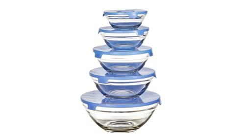 Envase de Cristal con Tapa de Plastico para Alimentos. Recipiente para Comida. Tapers de Cristal. Organizador Frigorifico. Recipientes para Microondas, Horno y Congelador