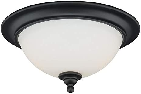 UKN 13-in W Max 41% OFF Bronze Flush Mount White Glass Fixture Ceiling ! Super beauty product restock quality top! Light
