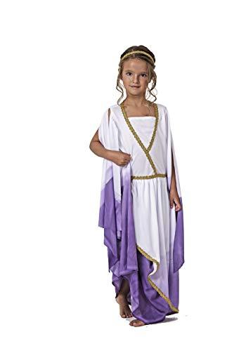 Costumizate! Disfraz de Griega Talla 7-9 Especial para niños Fiestas de Disfraces o Carnaval