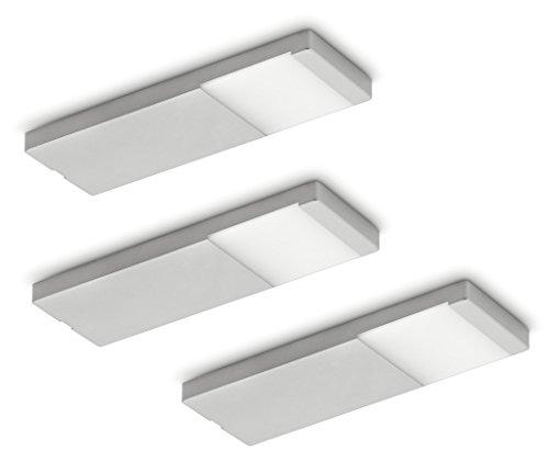 NABER Yolo Neo LED Set-3 Unterbauleuchte / Edelstahlfarbig / 3 Watt / Warmweiß