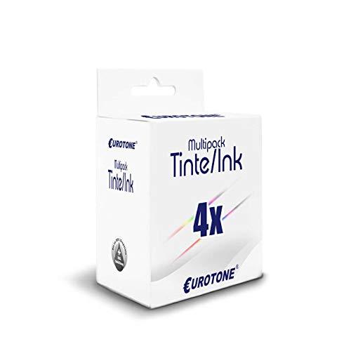 4x Eurotone Cartuccia per Canon MG 2440 2450 2455 2540 2550 2555 2940 2950 3050 3051 3052 3053 sostituisce PG545XL CL546XL CMYK