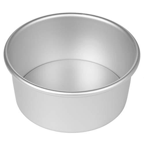 Non-Stick Tiefere Aluminium-Runde Kuchenform mit abnehmbarem Boden for Hochzeit/Geburtstag/Weihnachten Kuchen-Backen-Runde Kuchenform Set (Color : 6inch)