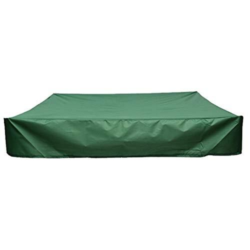 Bâche de Protection Carrée pour Bac à Sable, Rameng Bâche Imperméable en Tissu Oxford Vert (A,120 * 120CM)