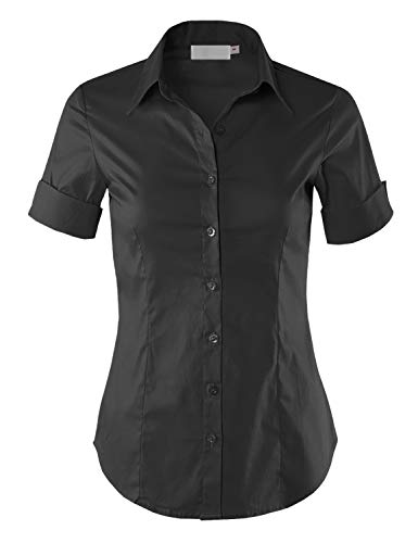 Hand wash With Cold Water, Line dry, Do not bleach, Please Refer To The Label Well-made high quality button down shirt in short folded cuff sleeves Perfect amount of stretchiness ensures easy movements but firm at the same time for fitted slim profes...