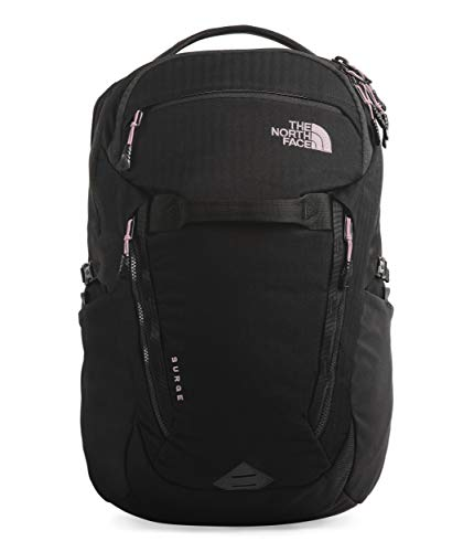 The North Face Women's Surge Backpack, TNF Black Light Directional Heather/Ashen Purple