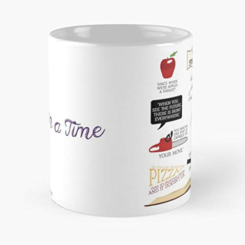 The Once Snow White Upon Abc Swan A Queen Time Evil Regina Oncers Mills Emma Ouat -Mug holds hand made from White marble ceramic printed trendy design