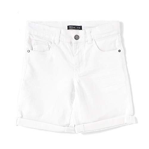 TEX - Pantalón Corto de Color para Niño, Blanco Neutro, 6-7 años