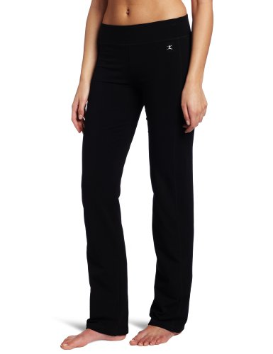 Danskin Women's Sleek Fit Yoga Pant, Black, Medium