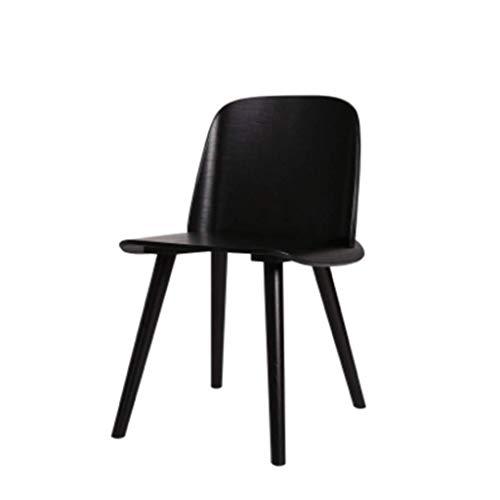 YCZDG - Silla de comedor moderna y minimalista de madera maciza, silla de comedor, mesa y silla