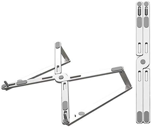 THBEIBEI Almacenamiento Plegable Laptop Stand Mayor Disipación De Calor Escritorio Escritorio Soporte De Aleación De Aluminio Portátil (Color : Silver)