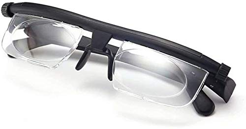 Dial Adjustable Glasses Variable Focus Vision,6D to +3D Diopters Myopia Glasses Reading Glasses HD Anti-Fatigue,Distance Vision Best Adjustable,For Reading Distance Vision