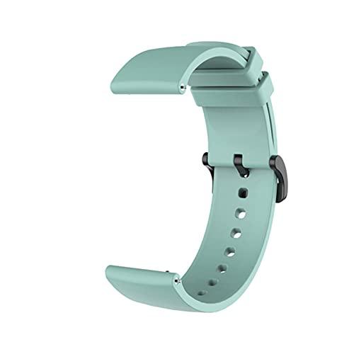 Correa de silicona para Xiaomi Amazfit GTR 42MM GTS Accesorios de pulsera para Xiomi Mi Smart Watch Band Correas de cuero-Verde esmeralda, para Amazfit GTR 42MM