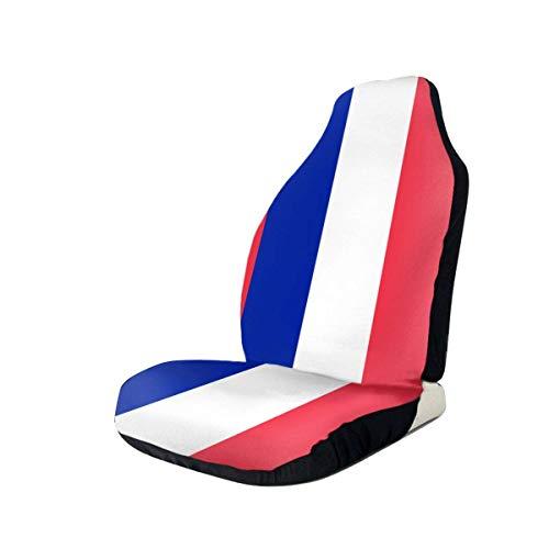 Preisvergleich Produktbild Sobre-mesa Frankreich Flagge Sitzbezug Set Universal Fit Die meisten Geländewagen PKW LKW Van Limousine 1Pcs / 2Pcs