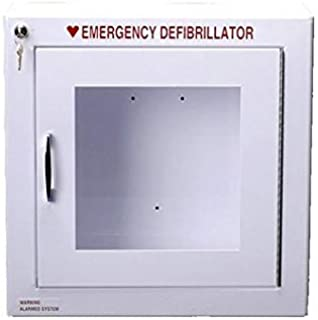 Alarmed AED Defibrillator Wall Mounted Storage Cabinet Fit Cardiac Science, Zoll Defibtech.