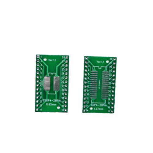 20 Teile/LOS SO/SSOP / SOIC/MSOP TSSOP28 / TSSOP28 Drehen DIP28 1,27 MM / 0,65 MM wiederum 2,54 MM IC Adapter Buchse/Adapterplatte / PCB