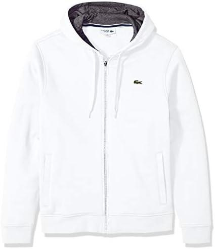 Lacoste Men s Sport Fleece Zip Up Hooded Sweatshirt White Pitch XXL product image
