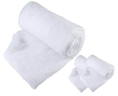 3 Pack Christmas Snow Blanket Roll (80 x 240 cm) for Christmas Decorations, Village Displays, Under the Christmas Tree - Thick White Soft Fluffy Fake Snow Cover for Holiday and Winter Displays