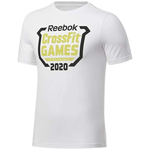 Reebok RC Games Crest tee Camiseta, Hombre, Blanco, L