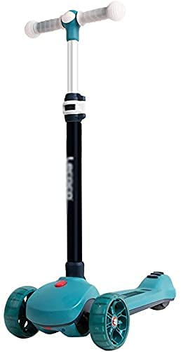 FFVWVGGPAA Patinete para Niños PU LED Ruedas Luminosas Dirección Fácil de Llevar Scooter Ligero Barra Ajustable en Forma de T, Patinete Infantil Juguete F00810