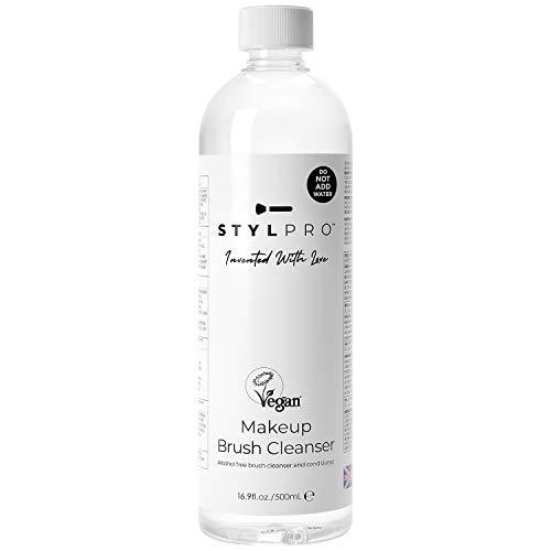 STYLPRO Liquido per la pulizia dei pennelli da Makeup Vegano – 500ml, Detergente per pennelli da Makeup, liquido detergente, balsamo, shampoo cosmetico.