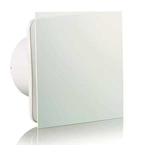 Vlano 100 Simple T weiß Badlüfter Timer Nachlauf Haus-Lüfter Ventilator Raumlüfter (Ø 100 mit Timer/Nachlauf, weiß)