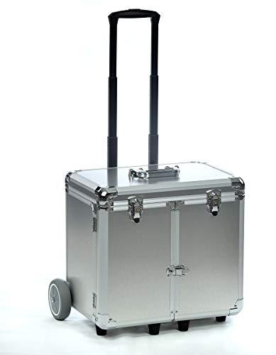 Fusspflegekoffer Modell Easy-Premium neues hochwertiges Design (Silber gebürstet)
