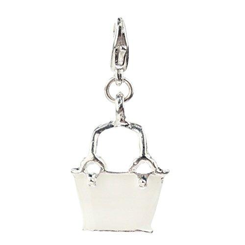 Elegancia blanco coloures bolso de mano form con pinza clip On encanto de los para abalorios pulseras de VAGA©