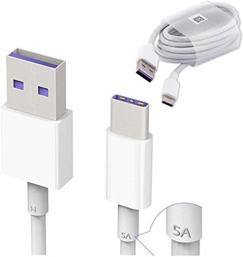 Cable Original Huawei HL1289 Carga Rapida 5A Tipo C para Mate 9, P10, Plus, Bulk