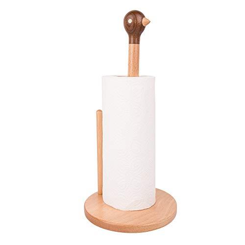 DAMAI STORE Massivholz Kreative Vogel Vertikale Papier Handtuchhalter Rollenhalter Home Wohnzimmer Küche Restaurant Dekoration Holz Handwerk Geschenk