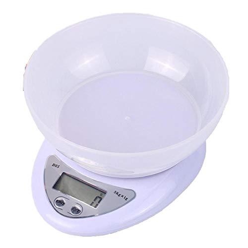 5kg / 1g Keukenweegschaal Huishoudelijke elektronische bakschaal met kom