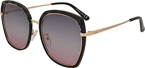 SQUAD Gafas de sol mujeres polarizadas Cuadradas Tamaño grandes 100% protección UV400