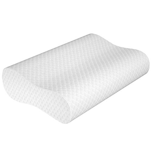Milemont Memory Foam Pillow, Bed Pillow for Sleeping, Adjustable Contour Pillow for Neck Pain, Neck Support for Back, Stomach, Side Sleepers, Orthopedic Cervical Pillow, CertiPUR-US