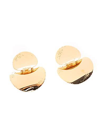 Céline Luxury Fashion Damen 46T296BRA35OR Gold Metall Ohrringe | Frühling Sommer 20