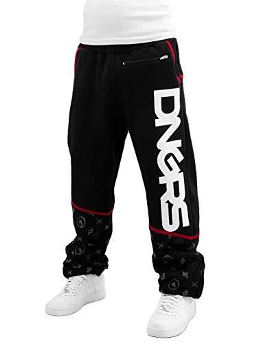 Dangerous DNGRS Herren Jogginghose Baggy Bear Baumwolle schwarz XXXXL