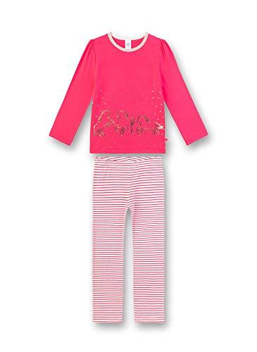 Sanetta Mädchen Pyjama Lang Zweiteiliger Schlafanzug, Rosa (rosa 3845), (Herstellergröße:128)