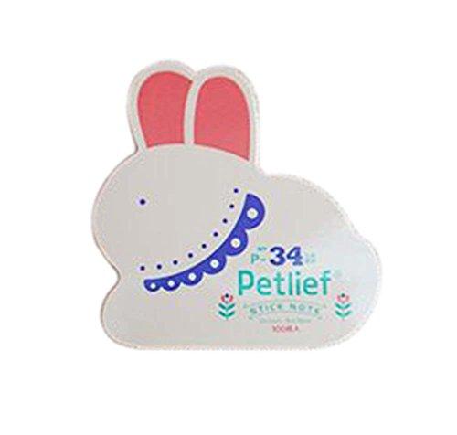 10 pedazos de forma linda del conejo del zodiaco creativo Notas pegajosas/cojín de rasguño