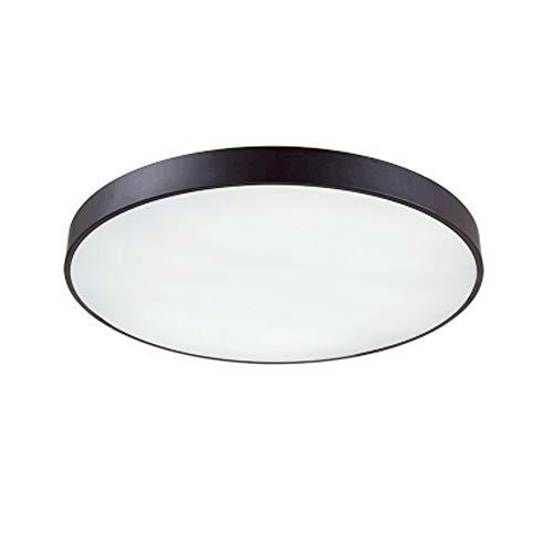 Lighfd Round Ultradunne 5cm LED Plafondlamp Eenvoudige Zwarte en witte woonkamer Lamp Sfeer Bedroom Lamp Dimming Balkon Nordic Lighting smeedijzer